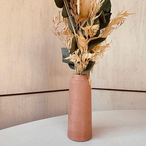 Vase en béton terracotta