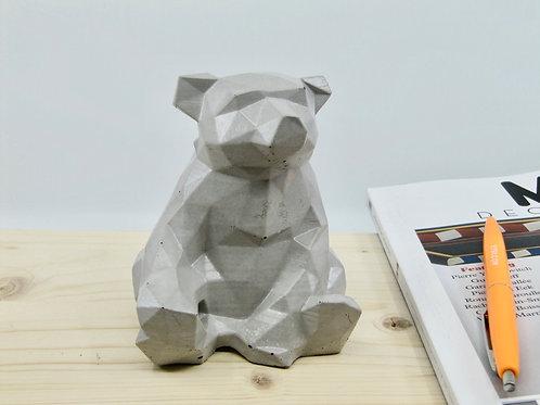 Ours en béton gris