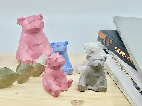 Mini ours en béton