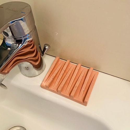 Porte-savon béton terracotta