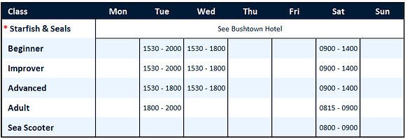 Coleraine Grammar Course Timetable