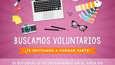 Buscamos nuevos voluntarios para diferentes áreas de la Fundación... ¡Registrate acá!