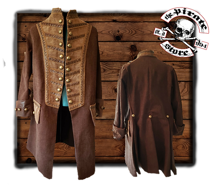 Brown Rogue Captain Frock Coat
