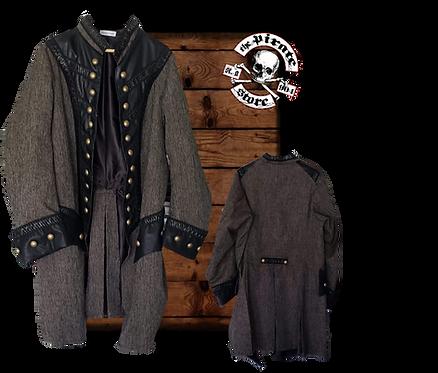 Grey Rogue Captains Frock Coat