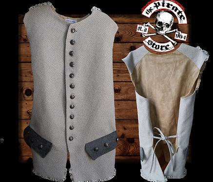 Grey linen Quarter Master Waistcoat