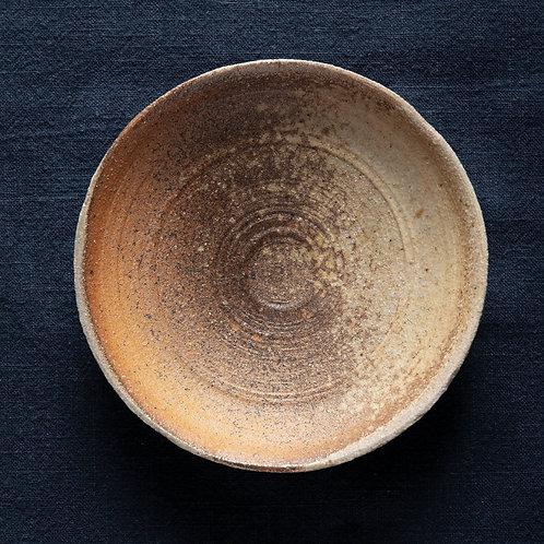 Тарелочка с глазурным узором, дровяной обжиг