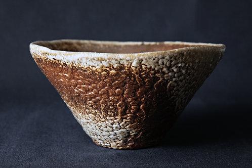Небольшая миска с текстурой «горькая дыня» №1, дровяной обжиг