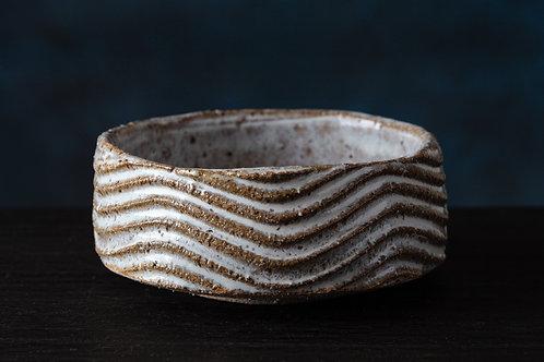 Wave texture bowl