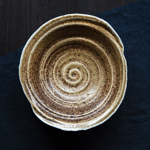 Spiral Plate №1, wood fired