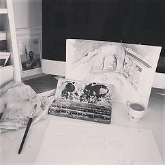 _work❤️ #_work #drawing #ninasonnabendde