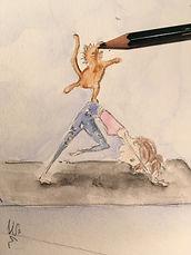 "Illustrationen ""Yoga and cats"""