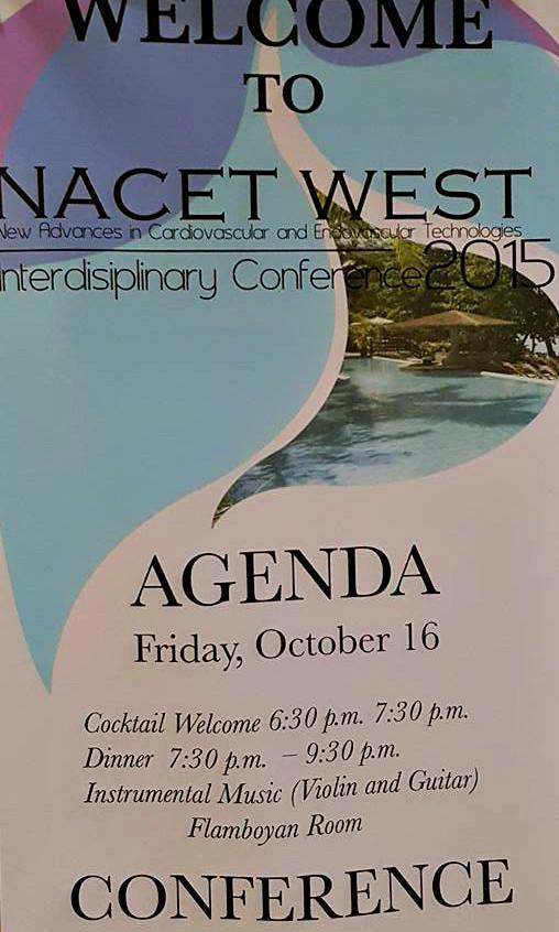 Nacet Interdisciplinary Summit welcome banner.