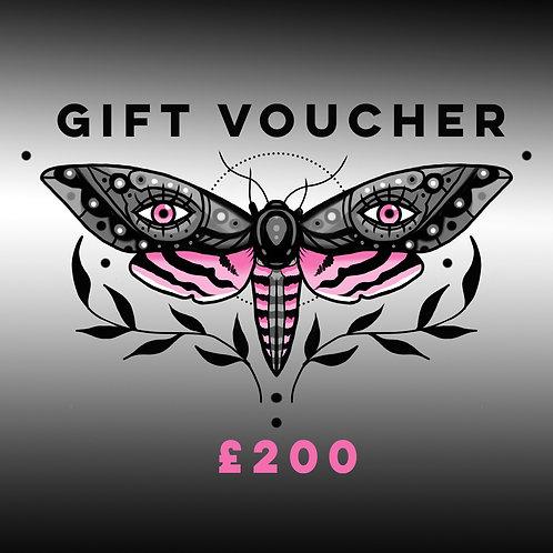 Digital Gift Voucher £200