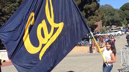 Diana waving the UC-Berkeley flag