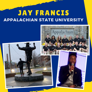 Picture Collage of Jay at App State and the Conference
