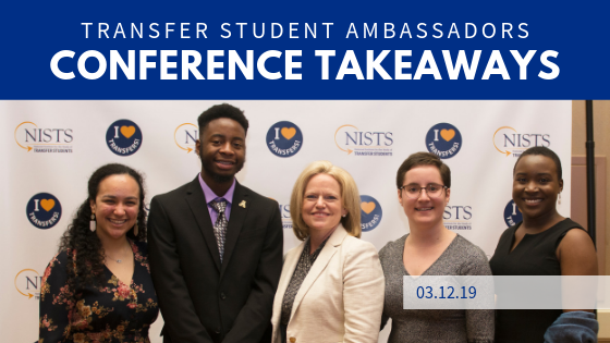 The 2019 Transfer Student Ambassadors with Janet Marling