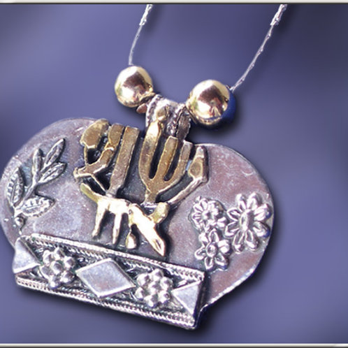 Kingdom Crown Silver Necklace