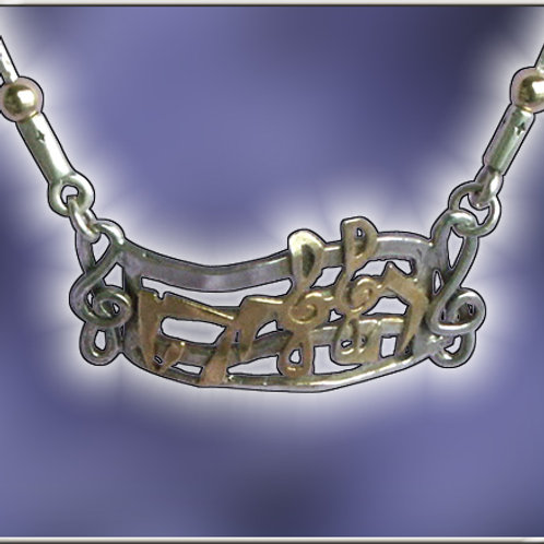 """Sterling Silver """"Halleluyah"""" in Gold fill"""