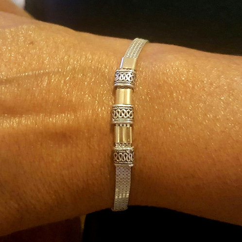 Silver and Gold Fill Bracelet