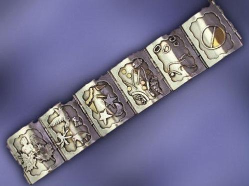6 Days of Creation Silver Bracelet