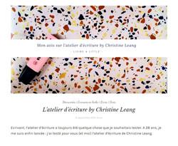Living a Little by Anna sur l'Atelier d'écriture by Christine - sept 2019