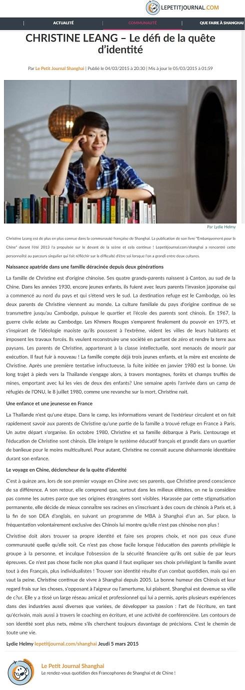 Le Petit Journal, 5 mars 2015