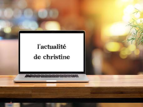 L'actualité de Christine et des ateliers d'écriture