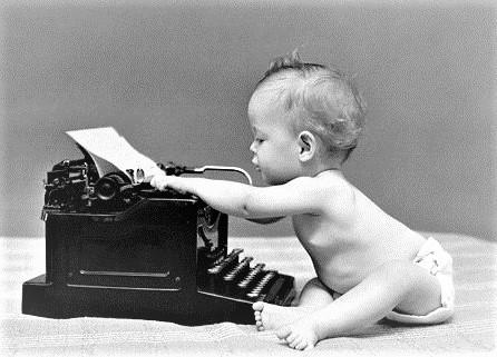 écrire un roman bébé tape machine