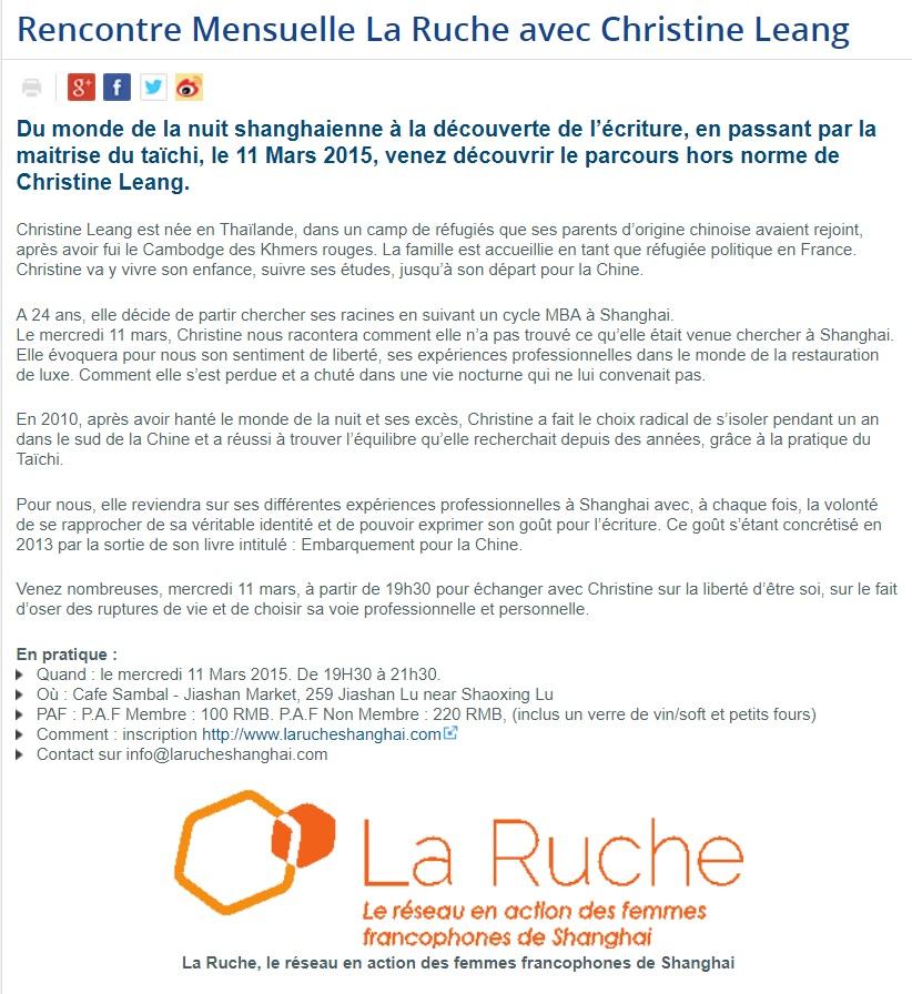 La Ruche, 11 mars 2015