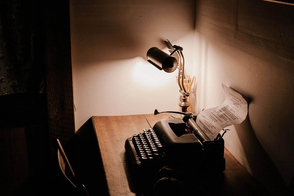 machine à écrire d'écrivain