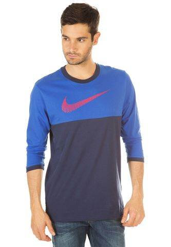 eficacia Tranquilidad Maestría  Camiseta Manga Larga NIKE Knit top-3/4 sleeve Azu   sport-enterprise