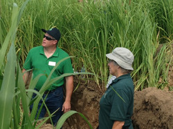 Troy and Eileen in Soil Pit