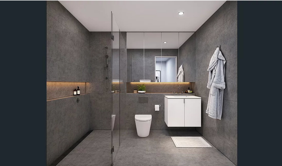 Bathroom interior of Saint Martin hotel room