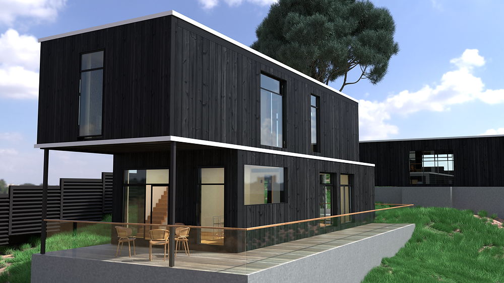 The cost of a modern modular home.