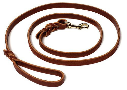 "Leather Dog Training Leash - 6 Foot - 5/8"" - Max 60 lbs."