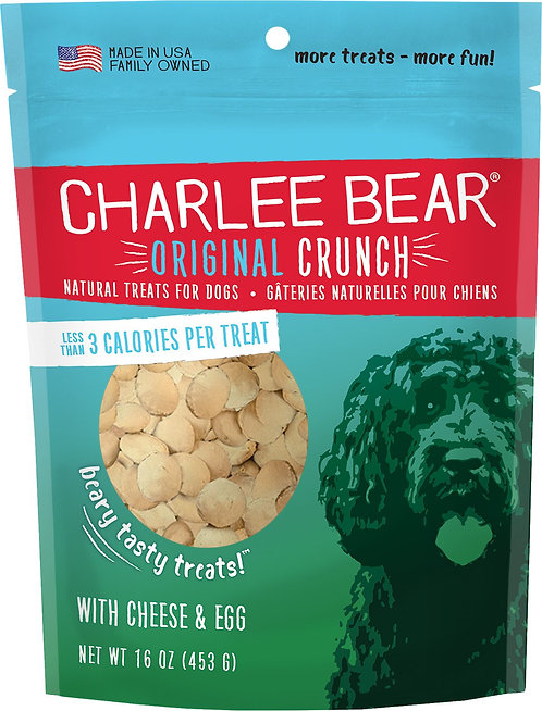 Charlee Bear Cheese & Egg Flavor Dog Treats, 16-oz bag