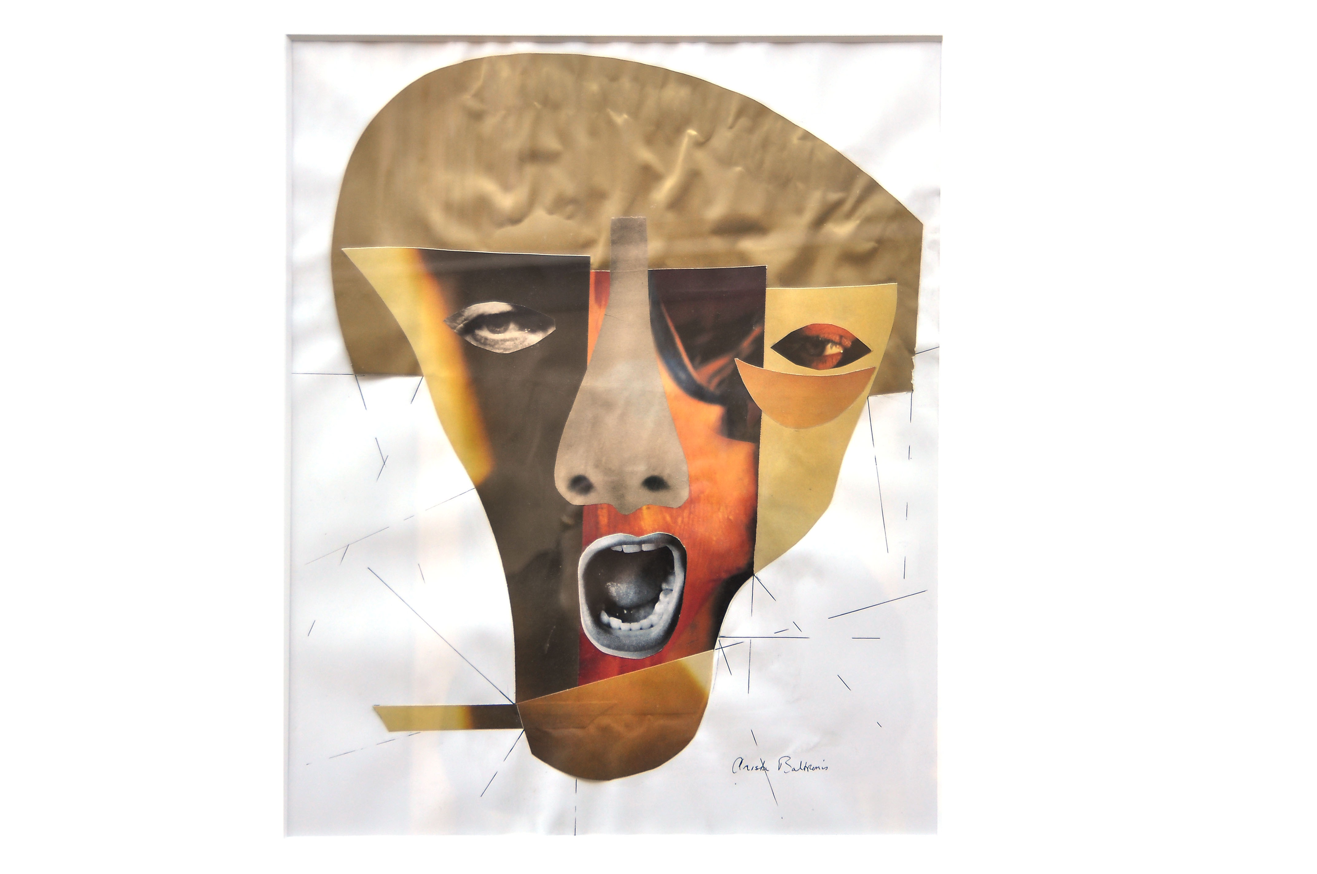 Mask Collage - Gold Forehead