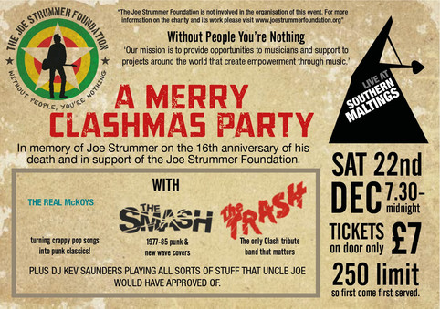 Advance Tickets for The Joe Strummer Foundation Gig
