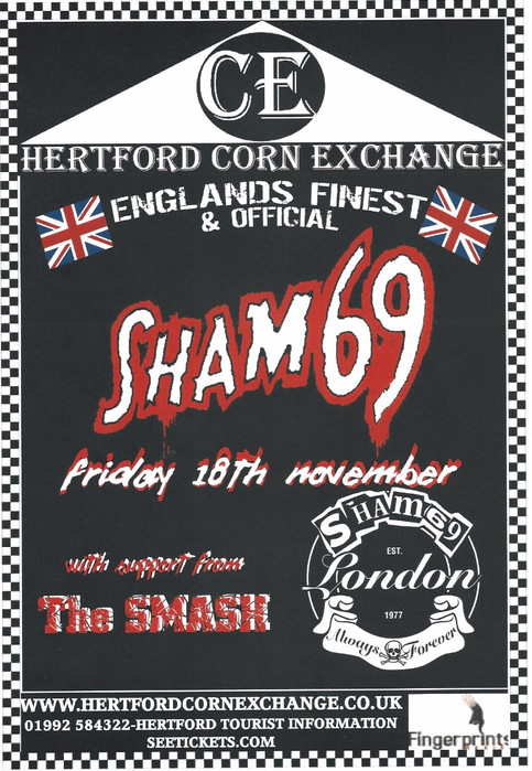 The SMASH! announce a support slot with Sham 69