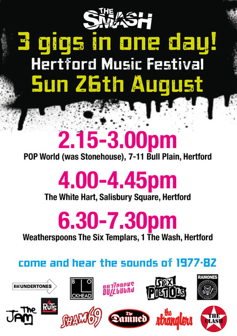 The Smash to play 3rd set at Hertford Music Festival