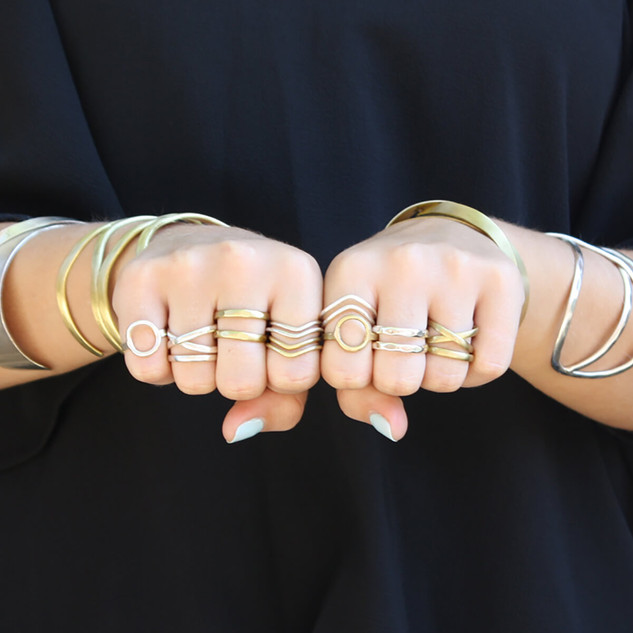 Double Wrap Ring - Gold