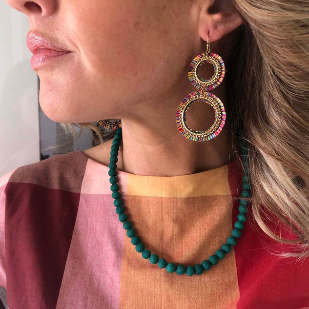 Kantha Chromatic Necklace - Teal