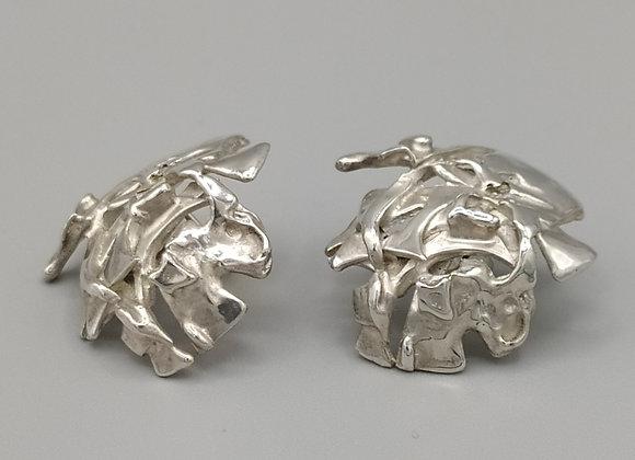 Boucles d'oreilles en argent massif 925°