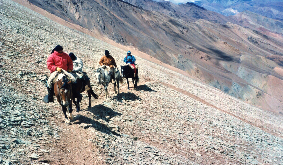 Crossing the Andes, Chile to Argentina