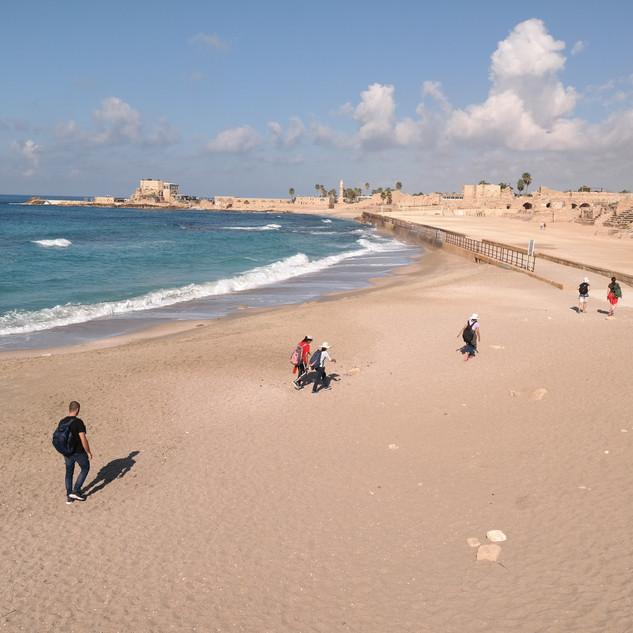Walk to Caesarea.JPG