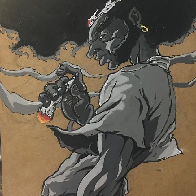 Afroooooooooooooo #afrosamurai #art #nol