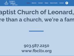 First Baptist Church of Leonard, Texas