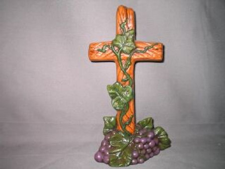 Cross with grapes