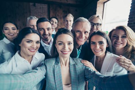Selfie of colleagues