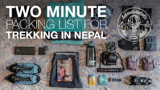 2 Minute Packing List for Nepal Trek | Adventureholix | S2:E1